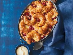 Buttery golden croissants and tangy berries gives you a winter pud like no other.