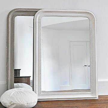 Beaded Wall Mirror - Grey & White - Stylish Mirrors - Wall Mirrors, Round Decorative Mirrors, Floor Standing Leaner Mirrors, Ornate Carved Mirrors, Window Mirrors, Overmantle Mirrors, Venetian Mirrors | Primrose & Plum