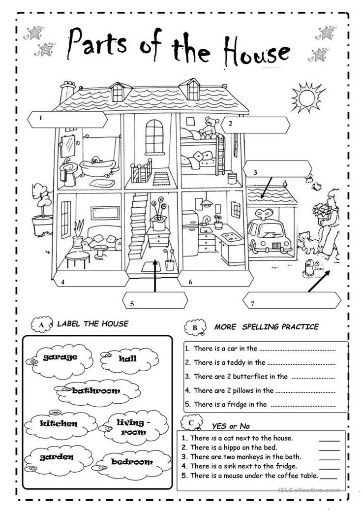 parts of the house worksheet - Free ESL printable worksheets made by teachers