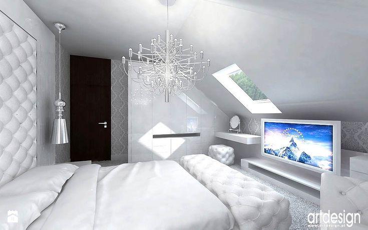 luksusowa sypialnia - aranżacja - zdjęcie od ARTDESIGN architektura wnętrz - Sypialnia - ARTDESIGN architektura wnętrz