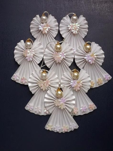 Como fazer anjos de papel, lindos enfeites de Natal | Cacareco
