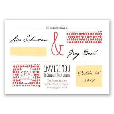 Flirty Fall Fling Wedding Invitation by David's Bridal #fallweddings