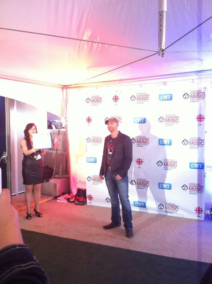 Tim Hicks at the #CCMA Awards