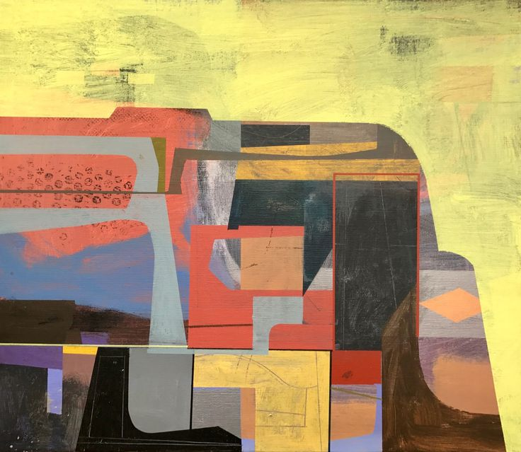 FineArtSeen.com - View Analog 5 by Jim Harris. A statement original abstract painting under $500.