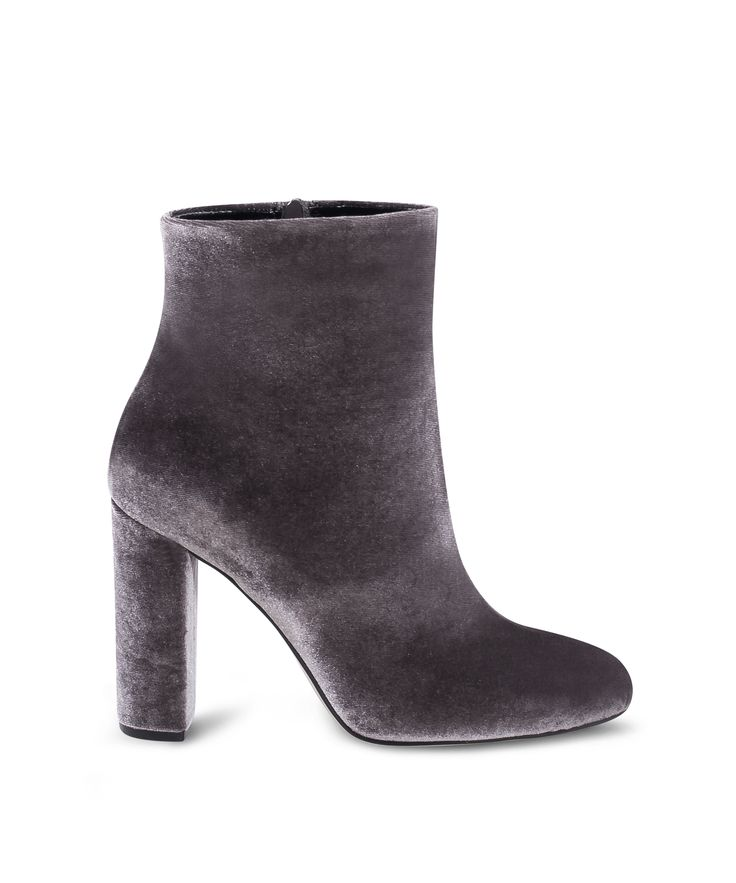 SANTE almond toe ankle bootie for the velvet lovers! Grey
