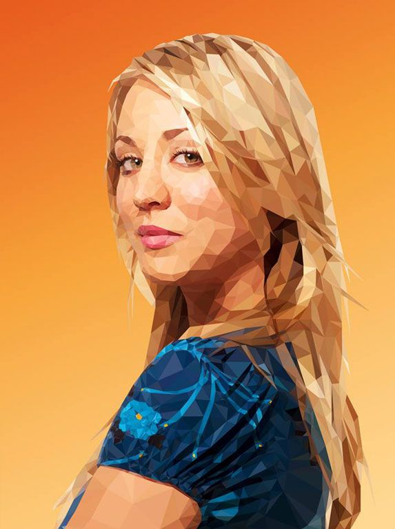 Low Poly Art Portraits of Your Favorite TV Show Characters by Mordi Levi