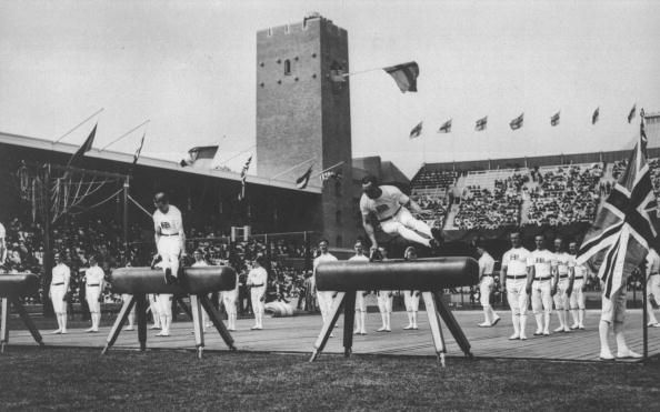An Illustrated History of Olympic Gymnastics: The 1912 Olympics: Pommel Horse Team Event