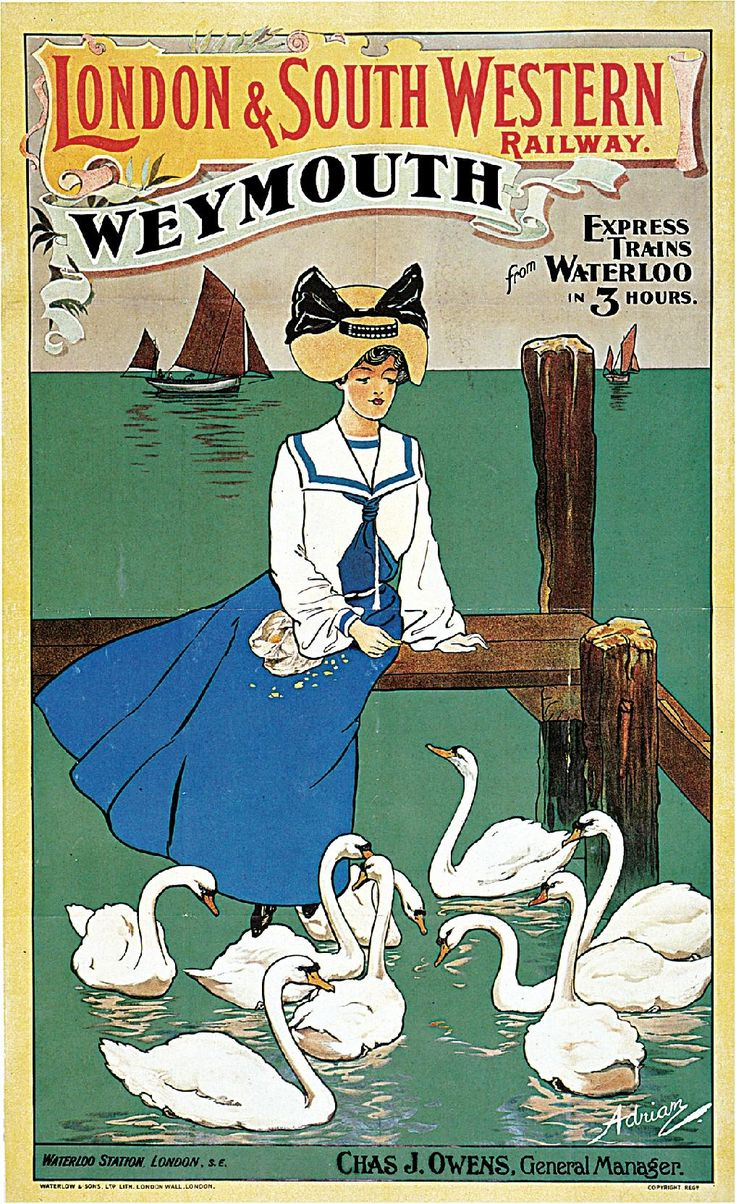1904 London & South Western Railway, Weymouth Travel Advertisement Art Picture Poster