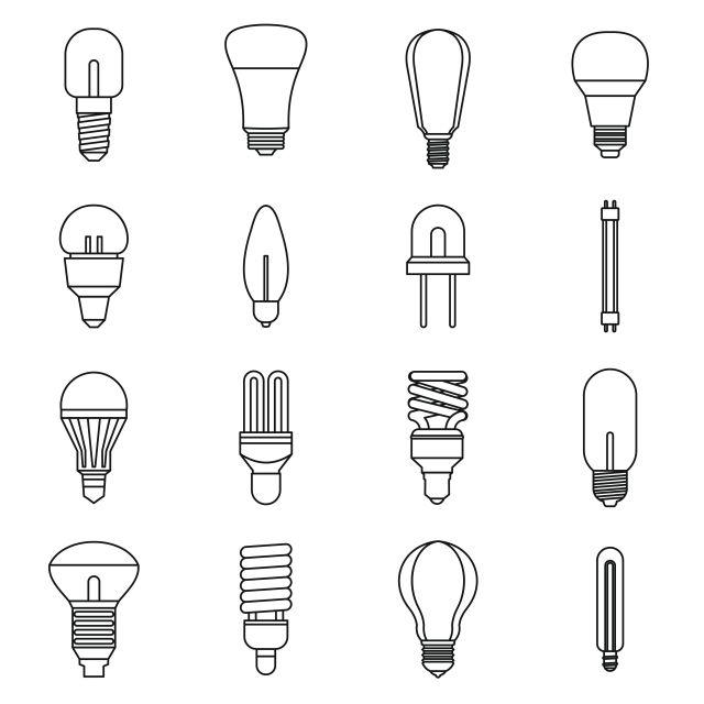 أيقونات المصباح الكهربائي Light Bulb Icon Bulb Light Bulb