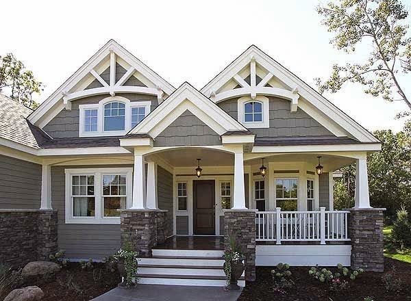 Welcoming home design with front porch