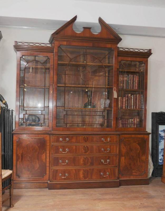 Photo Of Mahogany Victorian Breakfront Bookcase Gothic Bookcases Furniture Antique Dining RoomsAntique