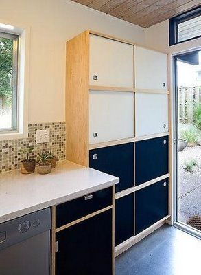 For pony wall...............                                sliding door kitchen cabinets