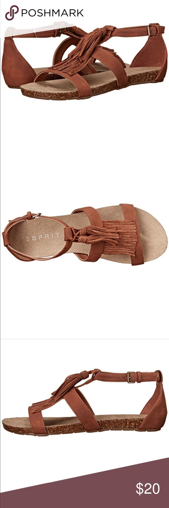 Cognac sandals!!!❤️ NEW Beautiful gorgeous sandals!!! Never been worn because they say size 8, but actually fit like a 9!!! Make them yours!!! Espirit Shoes Sandals
