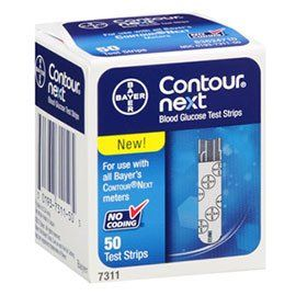 Bayer Contour Next Test Strips - 50ct by Contour-Next. Save 61 Off!. $26.95. Tiny 0.6 µL blood sample. High-performance test strips with next generation accuracy. Multi-pulse technology evaluates a single blood sample 7 times for exceptional accuracy. High-performance test strips with next generation accuracy Multi-pulse technology evaluates a single blood sample 7 times for exceptional accuracy Tiny 0.6 L blood sample