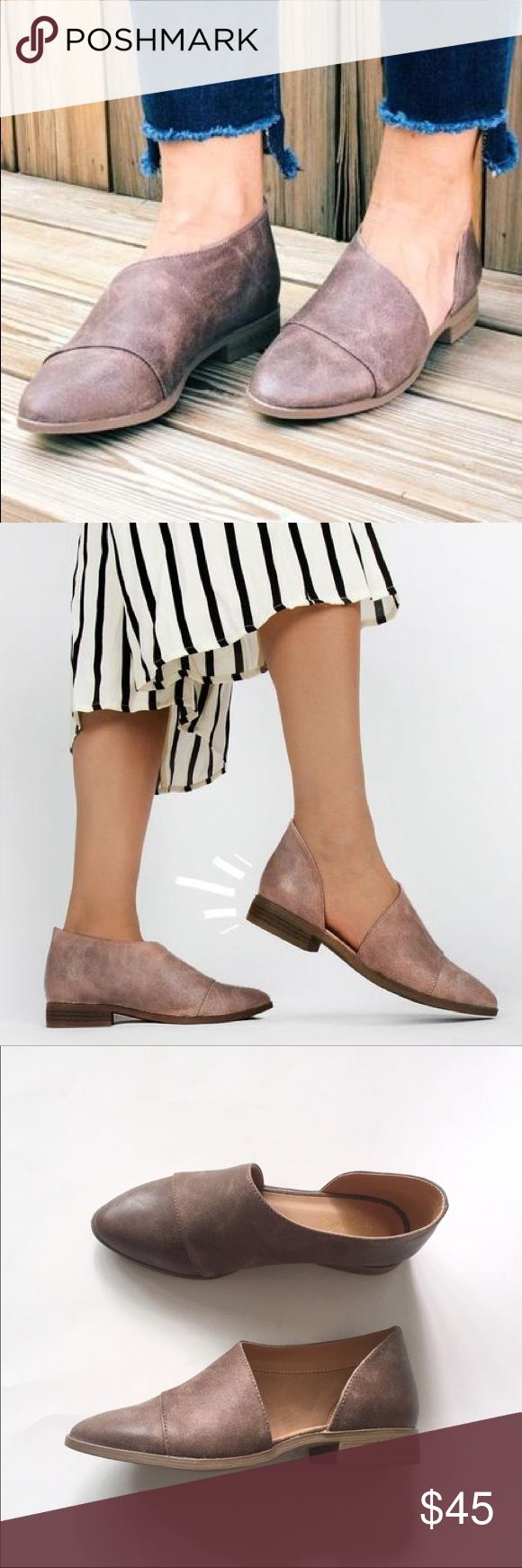 🆕 HAYDEN Shank Ballerina Flat in Taupe/Nutmeg Sold out everywhere!!! Taupe/Nutmeg color. Man made distressed leather with oil finish. 1 inch stacked heel. Wrap around design. Closed almond toe. Cushioned padded insole for comfort. Runs TRUE TO SIZE. Also available in STONE. No trades. Price is FIRM. Shoes Flats & Loafers