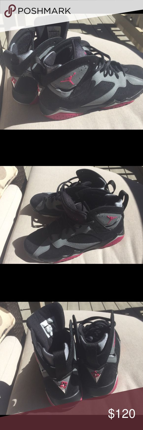 Retro Jordan 7s pink and grey Jordan Only wore once in excellent condition . Jordan Shoes