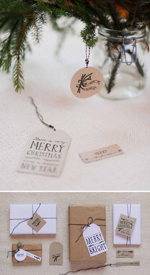 Hand-Drawn Gift Tags - Free PDF Printable