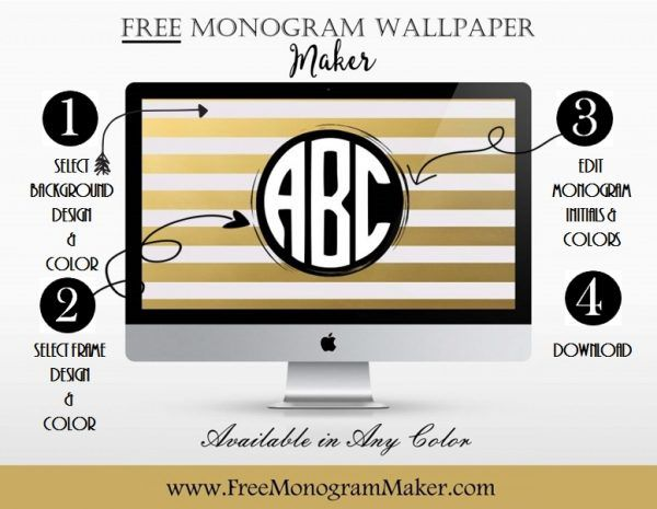 monogram wallpaper maker