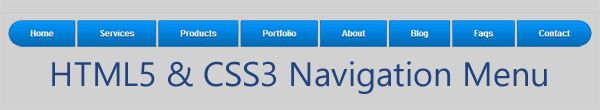 html5 and css3 navigation menu for blogger blog