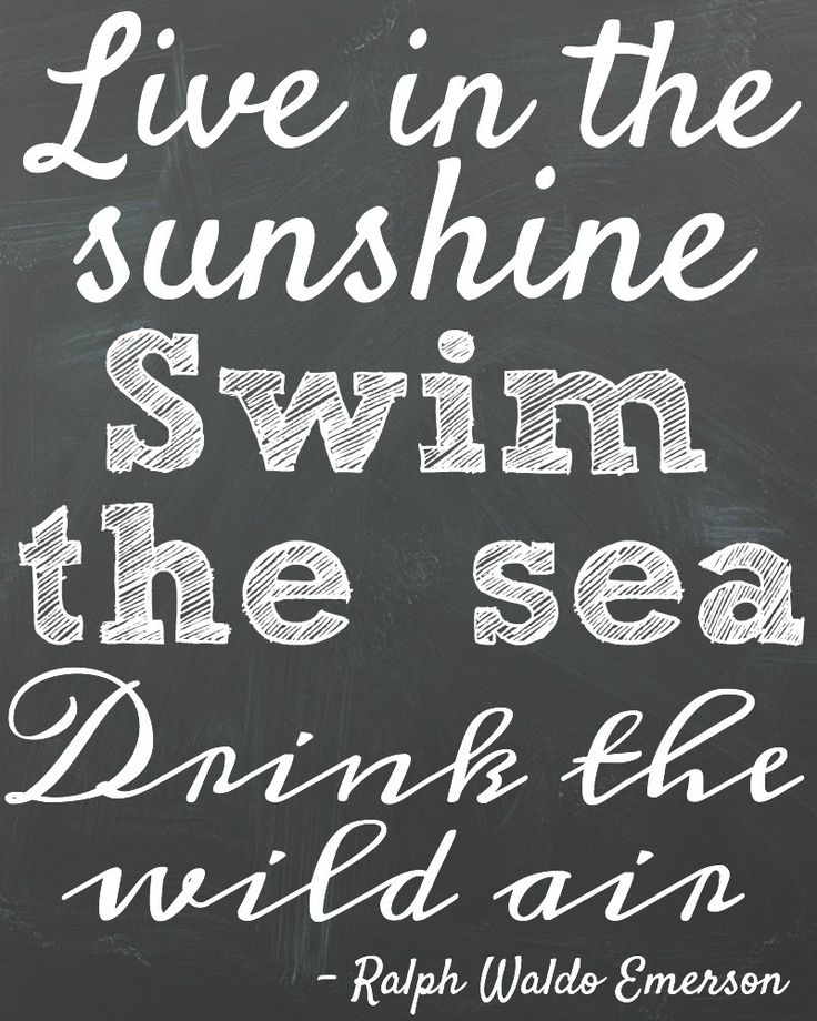 Free Summer Chalkboard & Watercolour Printables 8x10 Free Printable Summer Quote Emerson at the happy housie