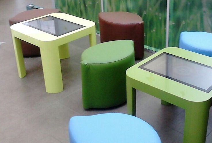 One more kids corner is finished. Nice #Corian #multitouch tables with customized #SnowFlake software.