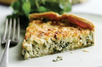 Watercress and Cheddar cheese tart | Vegetarian Recipes and Food | Pi ...