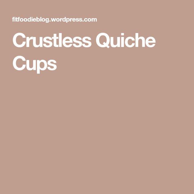 Crustless Quiche Cups