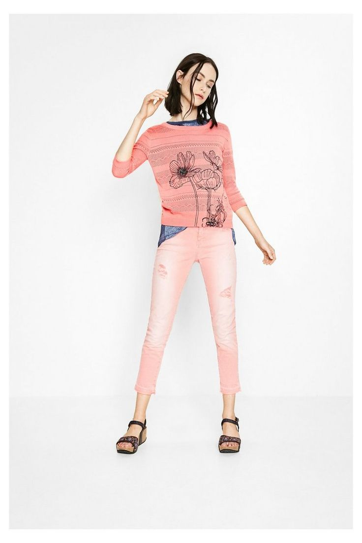 Jersey rosa para mujer - Niza | Desigual.com B