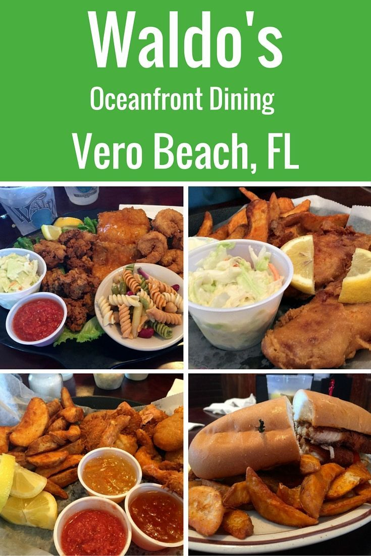 Want to know where I pick as my favorite restaurant in my town of Vero Beach? It is Waldo's, located in the Driftwood Hotel and right on the oceanfront. May I recommend the Traveler's Shrimp and their yummy pasta salad?