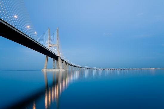 """#Lisbon. Bridge over the """"Tagus River, one of the largest in #Europe #Portugal"""