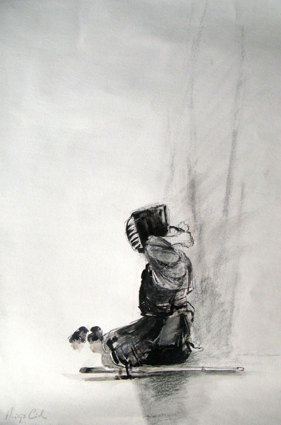ART OF KENDO - drawings by Alicja Cioch, via Behance