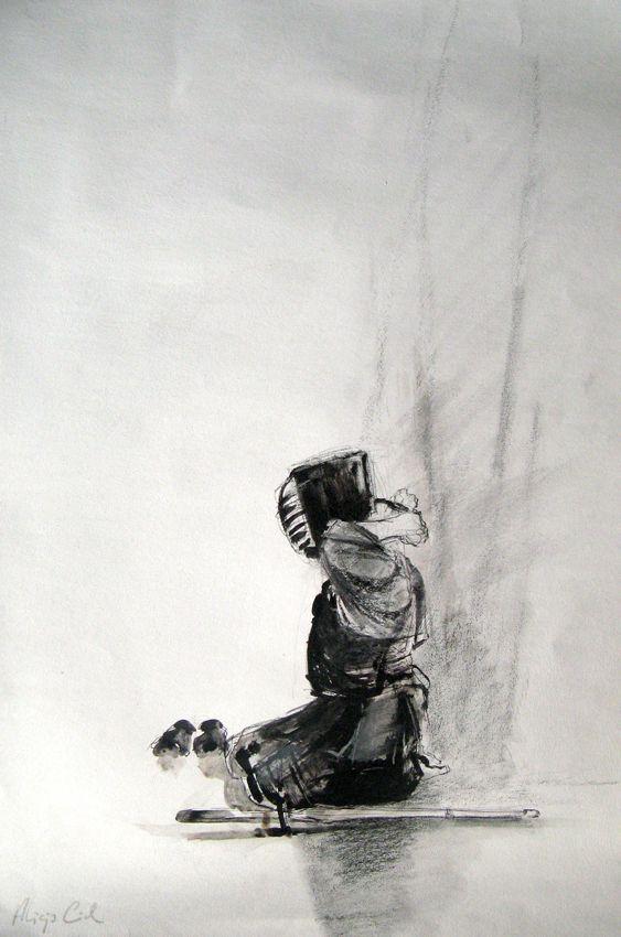 ART OF KENDO - drawings by Alicja Cioch, via Behance