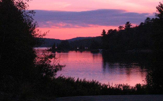 beautiful sunset at lake | Beautiful sunset on Elliot Lake submitted by Karol Osmond