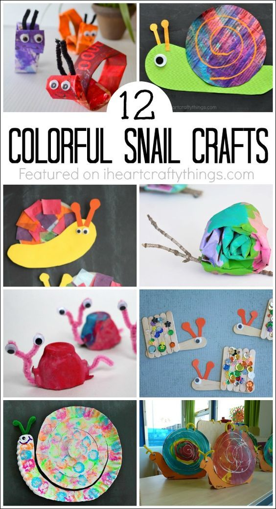 Snails are such a fun craft for spring time and it's amazing how many different mediums you can use to make a cute snail craft. Here are 12 colorful snail crafts for kids that children will love.