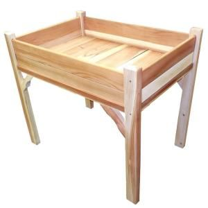 36 in. W x 24 in. D x 32 in. H Rectangle Wood Raised Garden Bed-52370 at The Home Depot