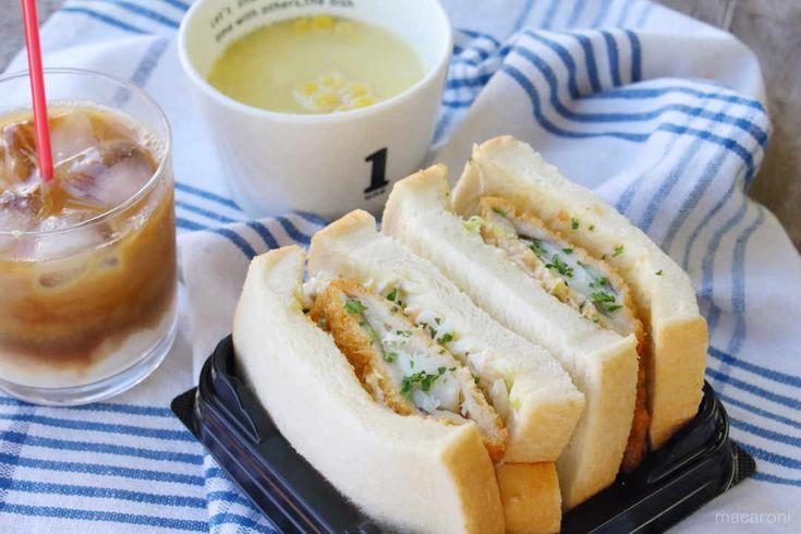 イトーヨーカドーのサンドイッチ  白身魚フライ