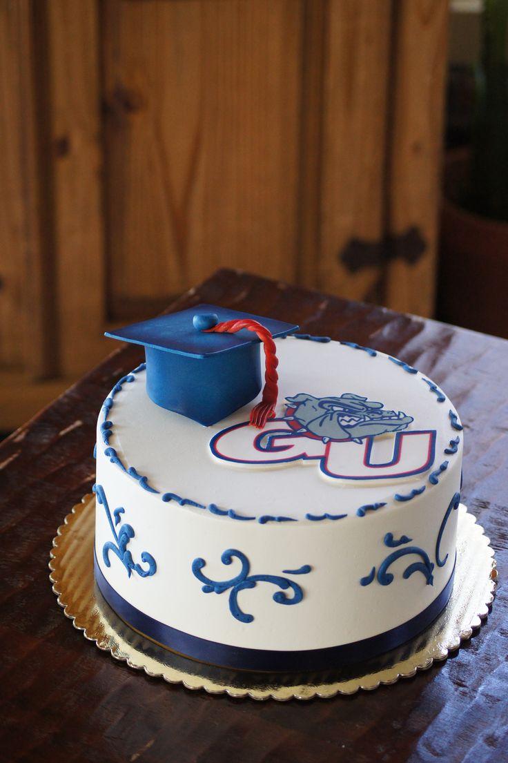 Cake Decorating Classes Folsom Ca : Vanilla grad cake blue scrolling school logo Graduation ...