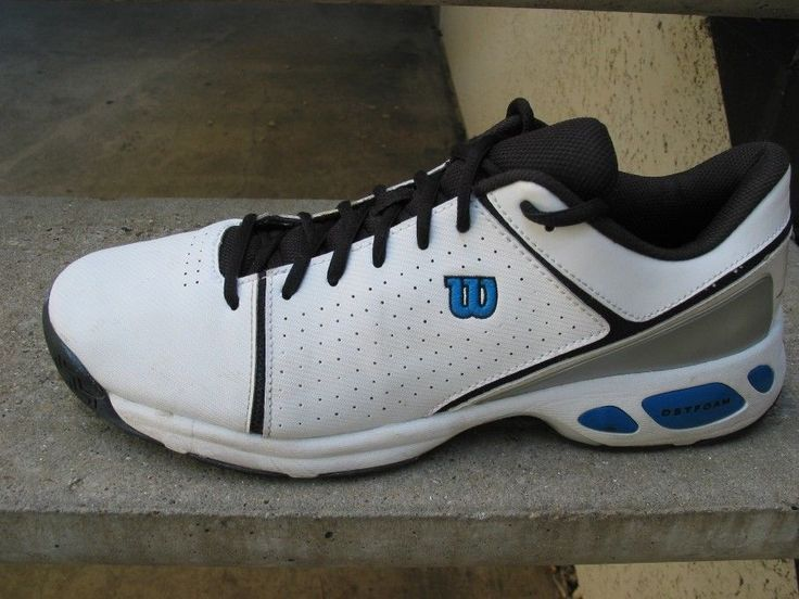 Wilson's White & Blue Used Athletic Shoes 13 #Wilsons #Athletic