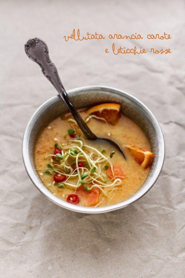 - VANIGLIA - storie di cucina: Vellutata di carote, arance, lenticchie rosse (e germogli varii)