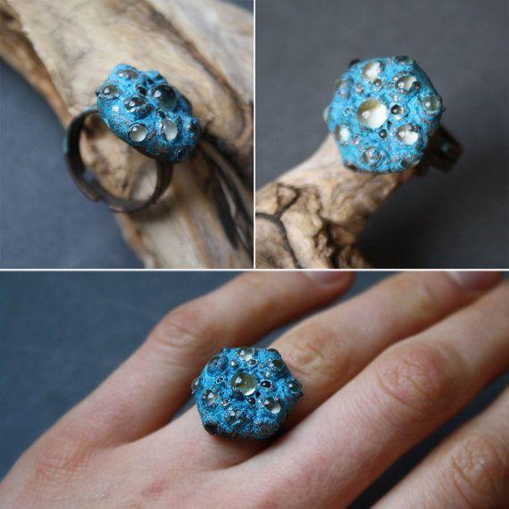 DragonGlass Ring. Glass and copper от LikeAGlassShop на Etsy
