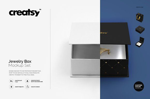 Download Jewelry Box Mockup Set Box Mockup Mockup Template Free Mockup Templates