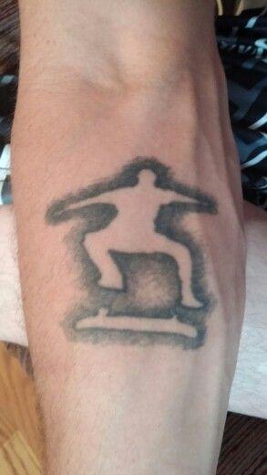 T.h.u.g  skateboard tattoo