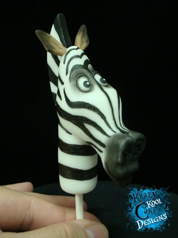 Marty Zebra Cake Topper From Madagascar by KrazyKoolCakeDesigns