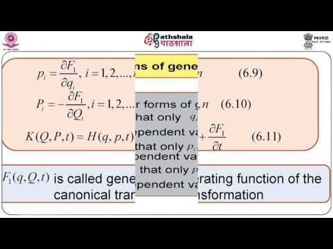 NRK ACADEMY: CANONICAL TRANSFORMATIONS - GENERATING FUNCTION– M...