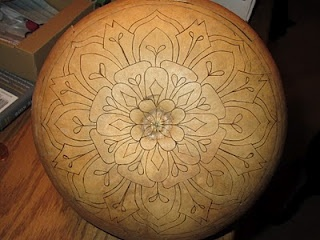 A gourd and a mandala....someone other than myself likes to do this! Awesome :)