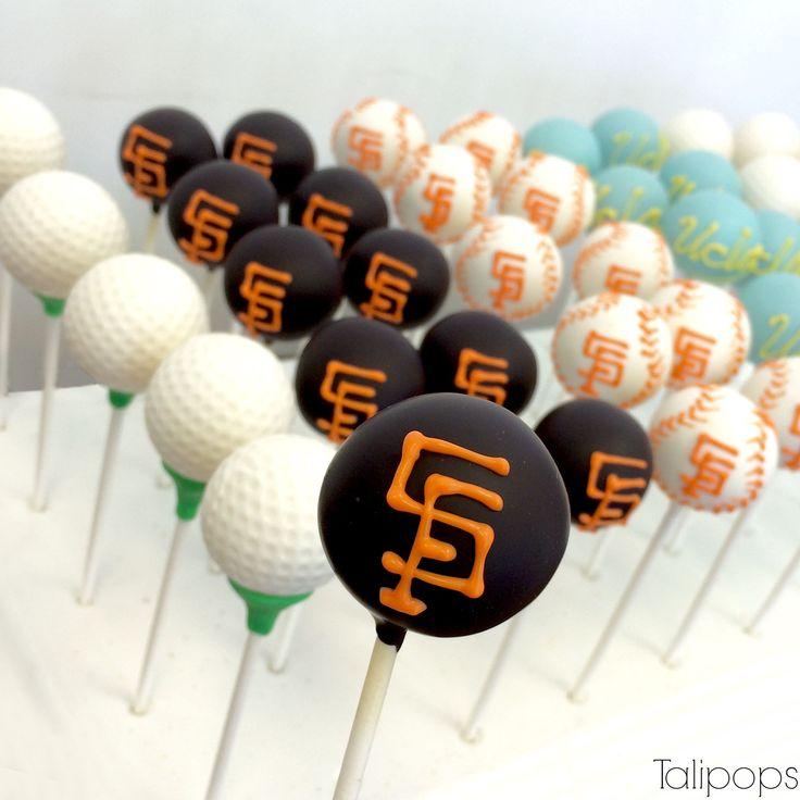 Giants cake-pops Golf ball cake-pops UCLA cake-pops Unique cake-pops ideas baseball