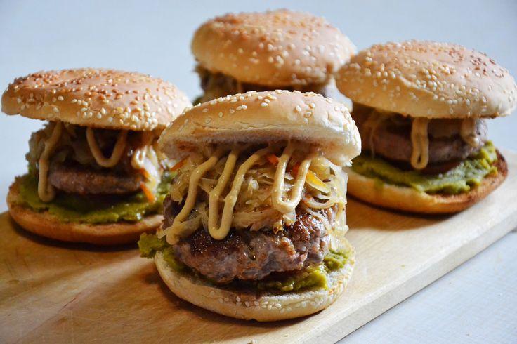 Бюргер бургер еда, рецепт, мясо, бургер, Германия, пиво, октоберфест, горчица, длиннопост