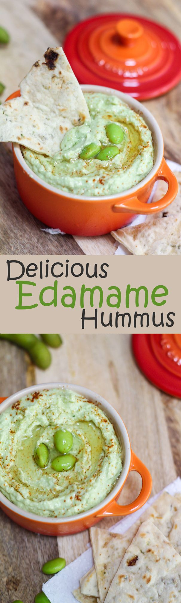 This delicious and healthy Edamame Hummus would only take you about 15 minutes from start to finish. It's slightly garlicky, lemony, creamy!