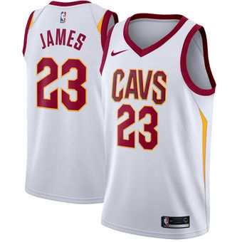 6d6674bfe934 Nike LeBron James Cleveland Cavaliers White Swingman Jersey  cavs  cavaliers   cleveland