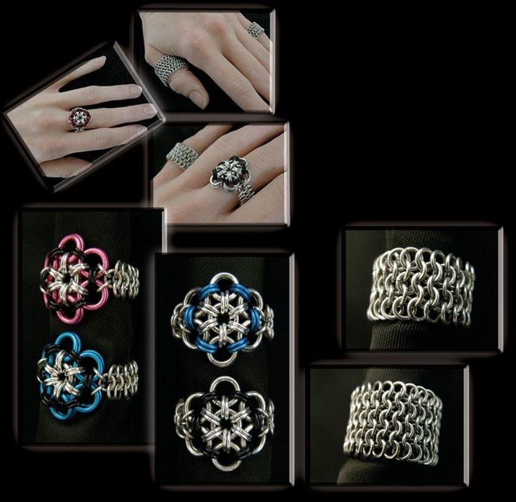 Chain Maille Jewelry Finger Rings mnartists.org